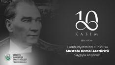 10 Kasım Cumhuriyetimizin Kurucusu Mustafa Kemal ATATÜRK'ü Saygıyla Anıyoruz.