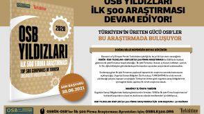OSBÜK – OSB YILDIZLARI – İLK 500 ARAŞTIRMASI DEVAM EDİYOR